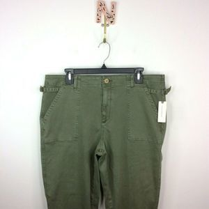Anthropologie Utility Cropped Bootcut Pants 33